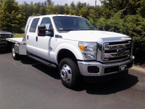 New 2013 Ford Super Duty F-350 DRW, 9' Flatbed, Lockable Toolboxes, Gooseneck Hitch